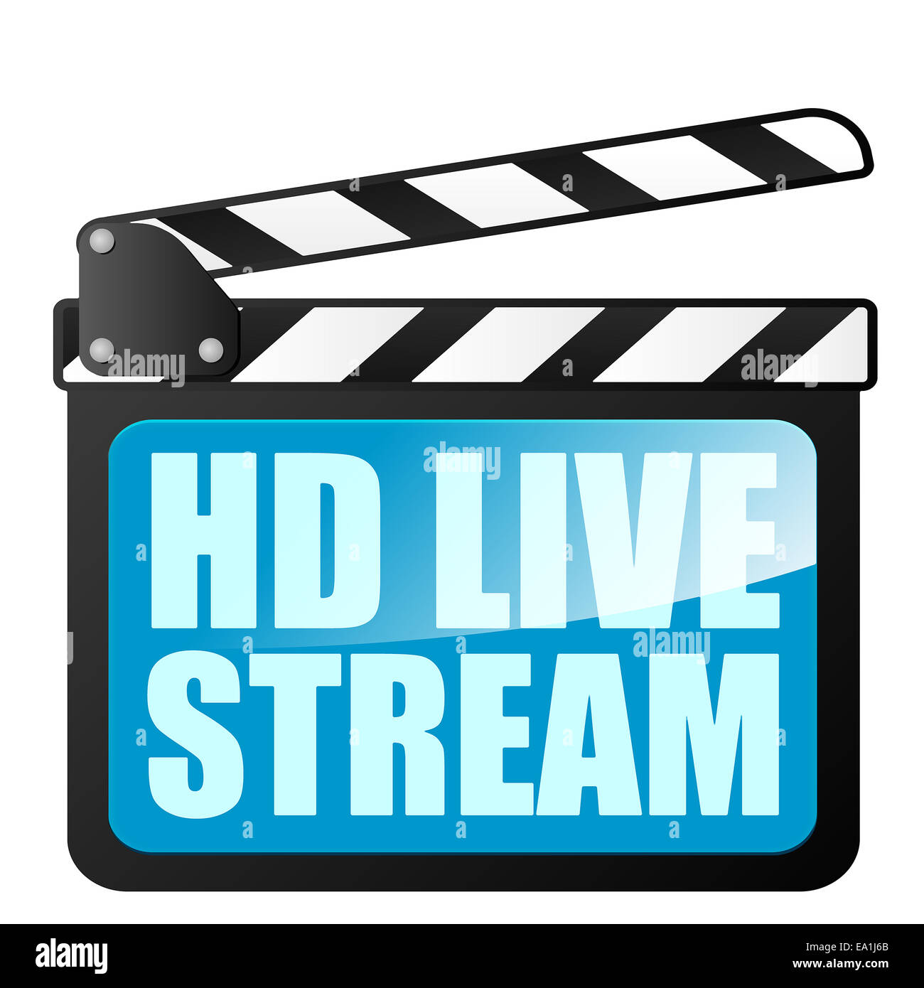 clapper board HD LiveStream - Stock Image