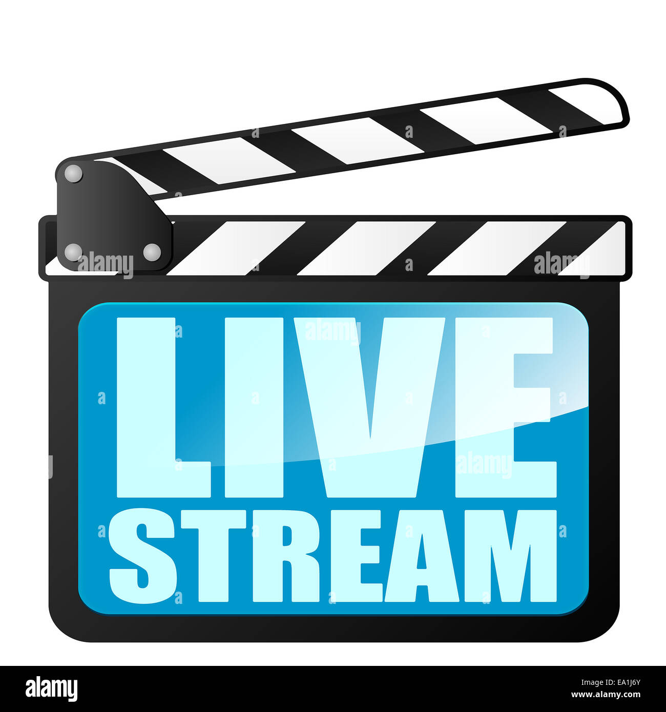 clapper board LiveStream - Stock Image