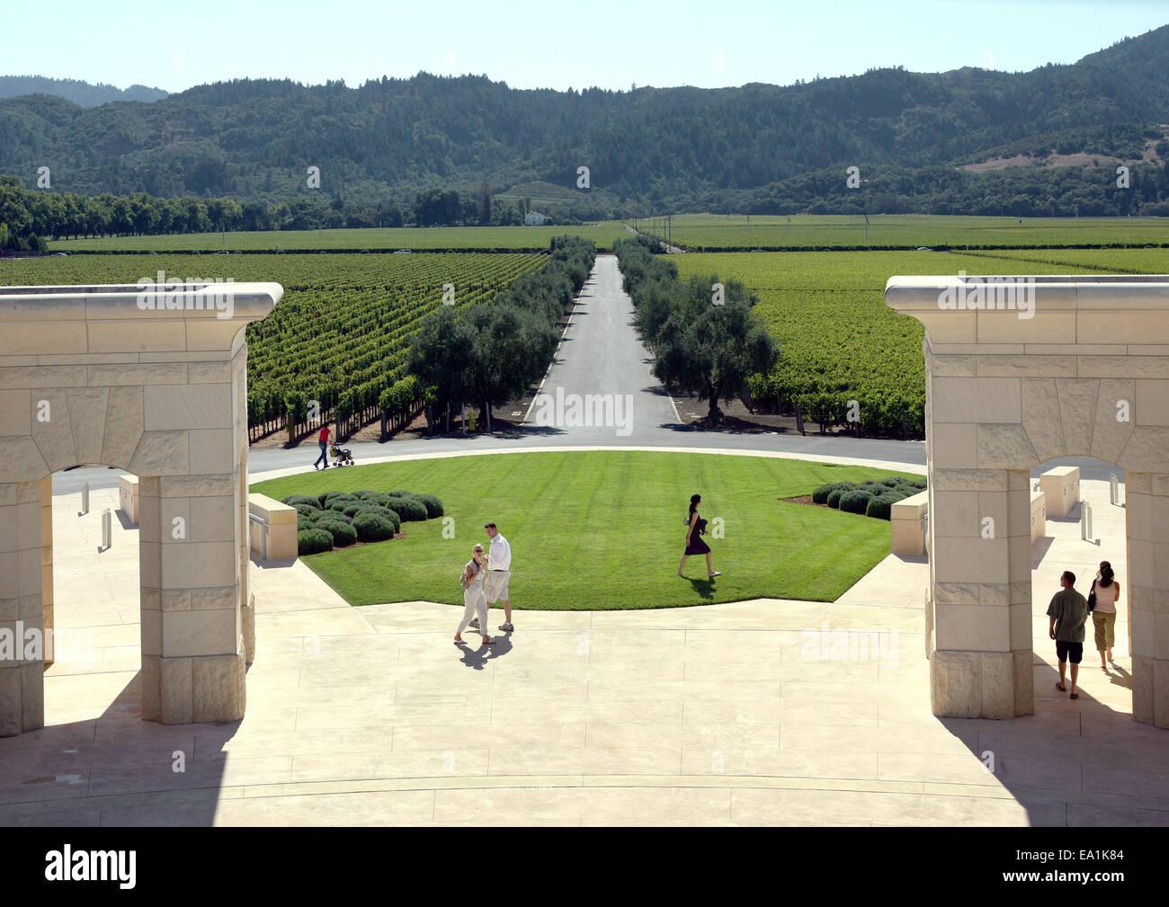 Napa County Vineyards Opus One Of Napa Valley California Ca Usa Stock Photo Alamy