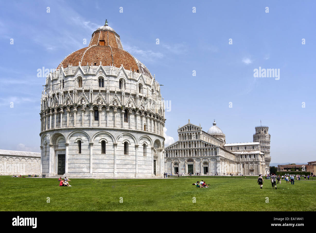 Square of Miracles in Pisa - Stock Image