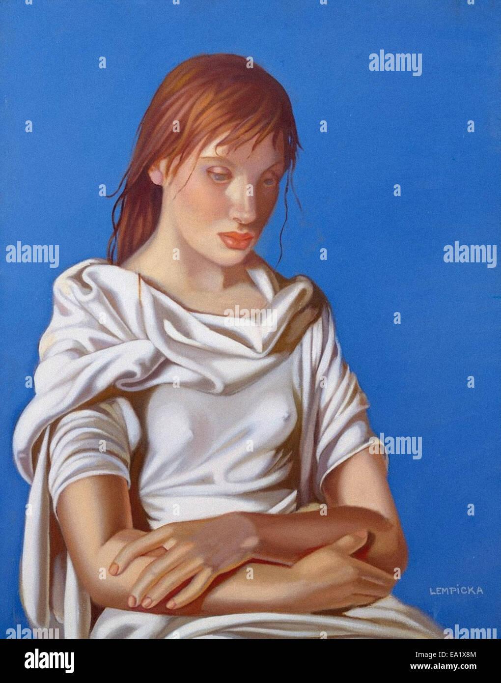 Tamara de Lempicka  Woman with Arms Crossed - Stock Image