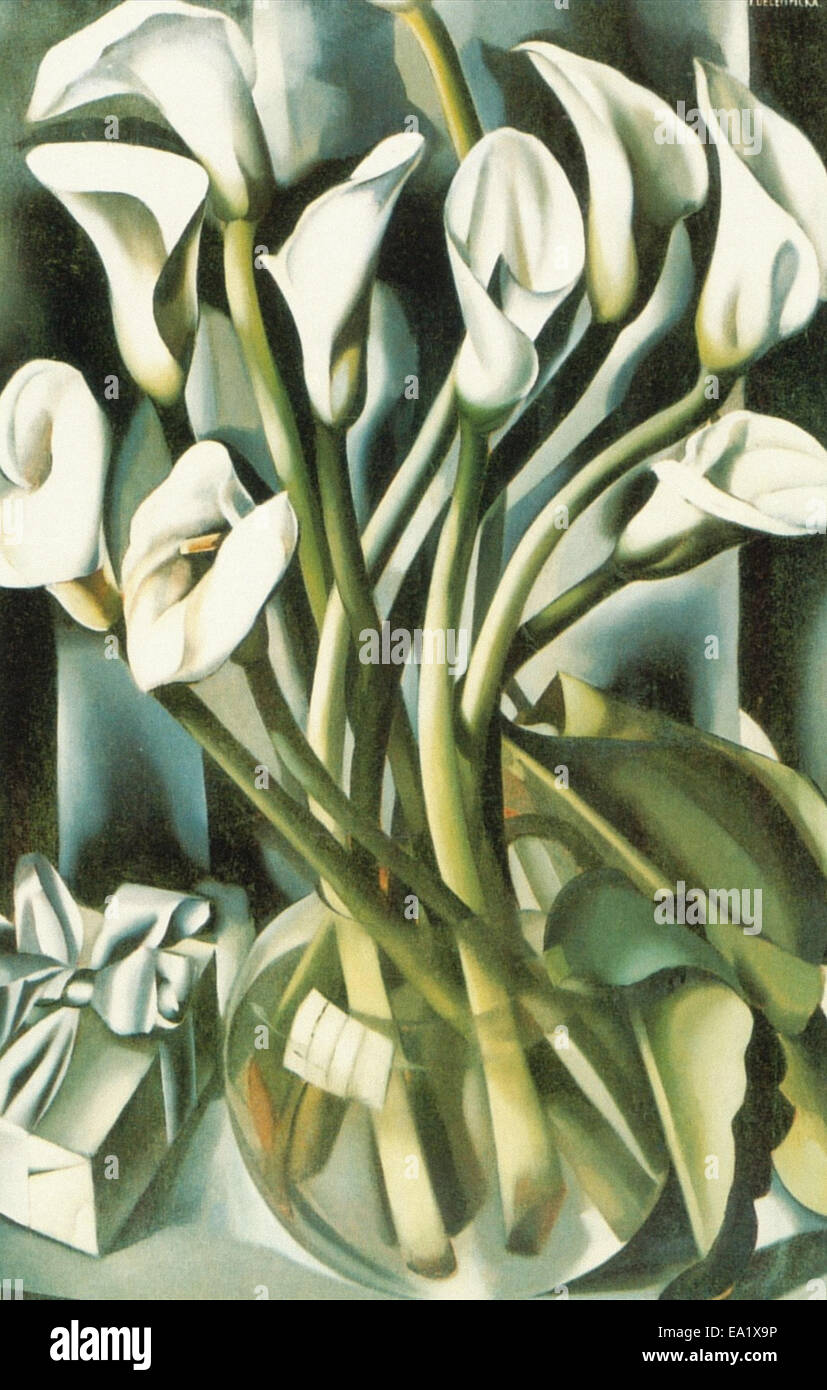 Tamara de Lempicka  Calla Lillies - Stock Image