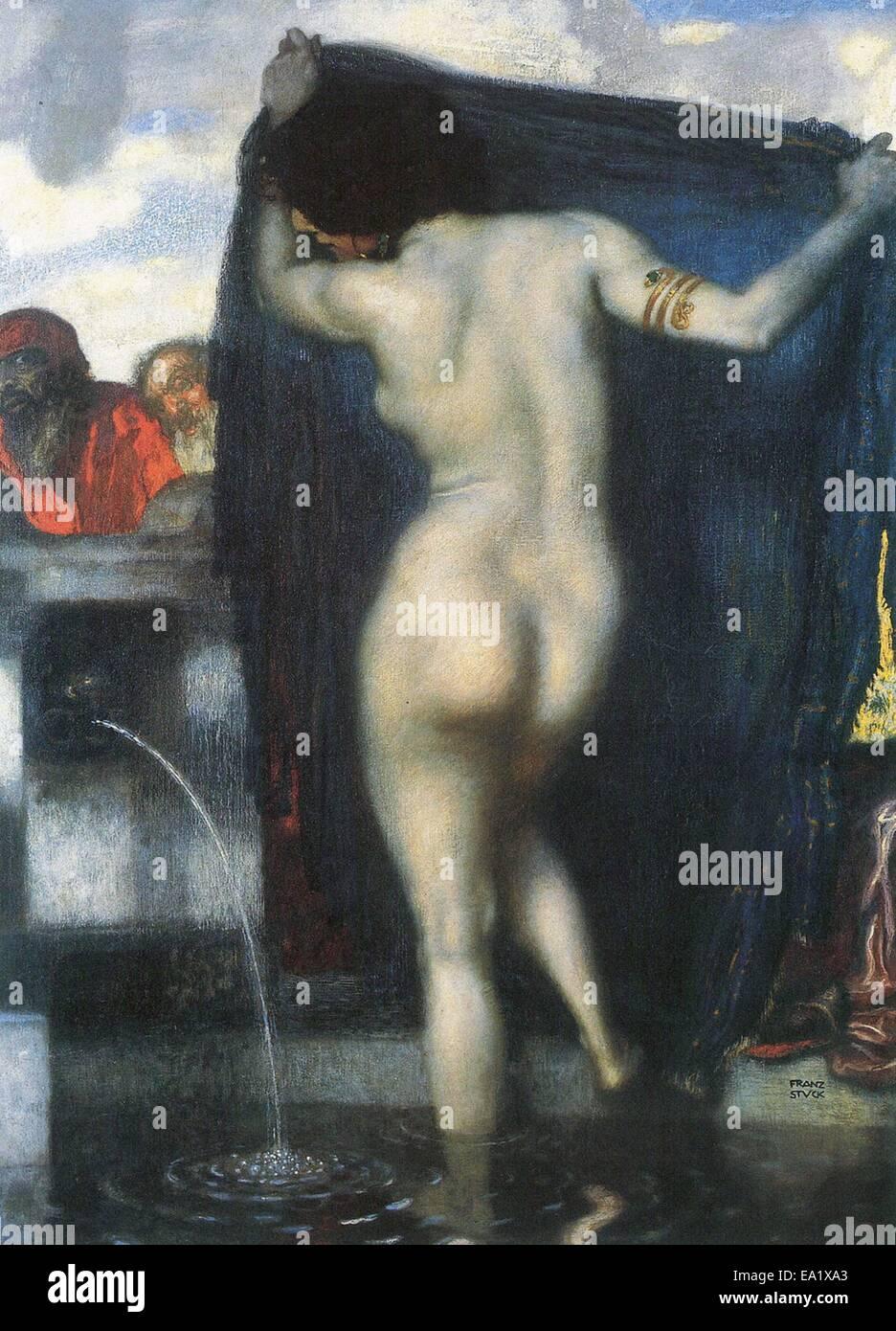 Franz von Stuck  Susanna Bathing - Stock Image