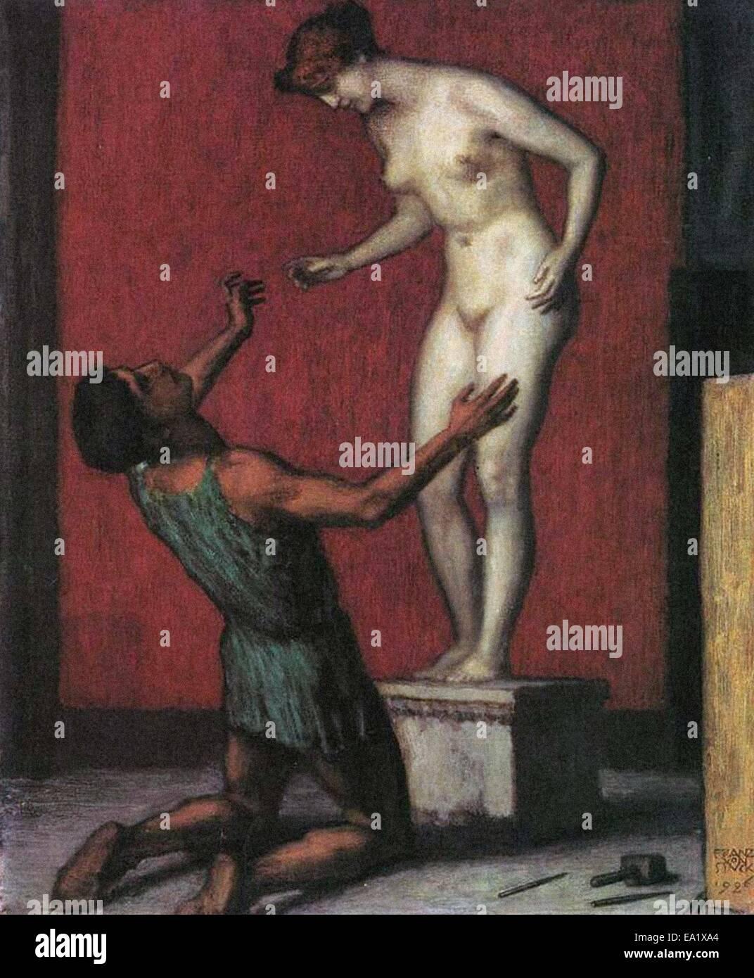 Franz von Stuck  Pygmalion - Stock Image