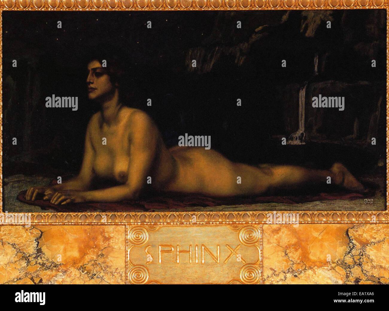 Franz von Stuck  Sphinx - Stock Image