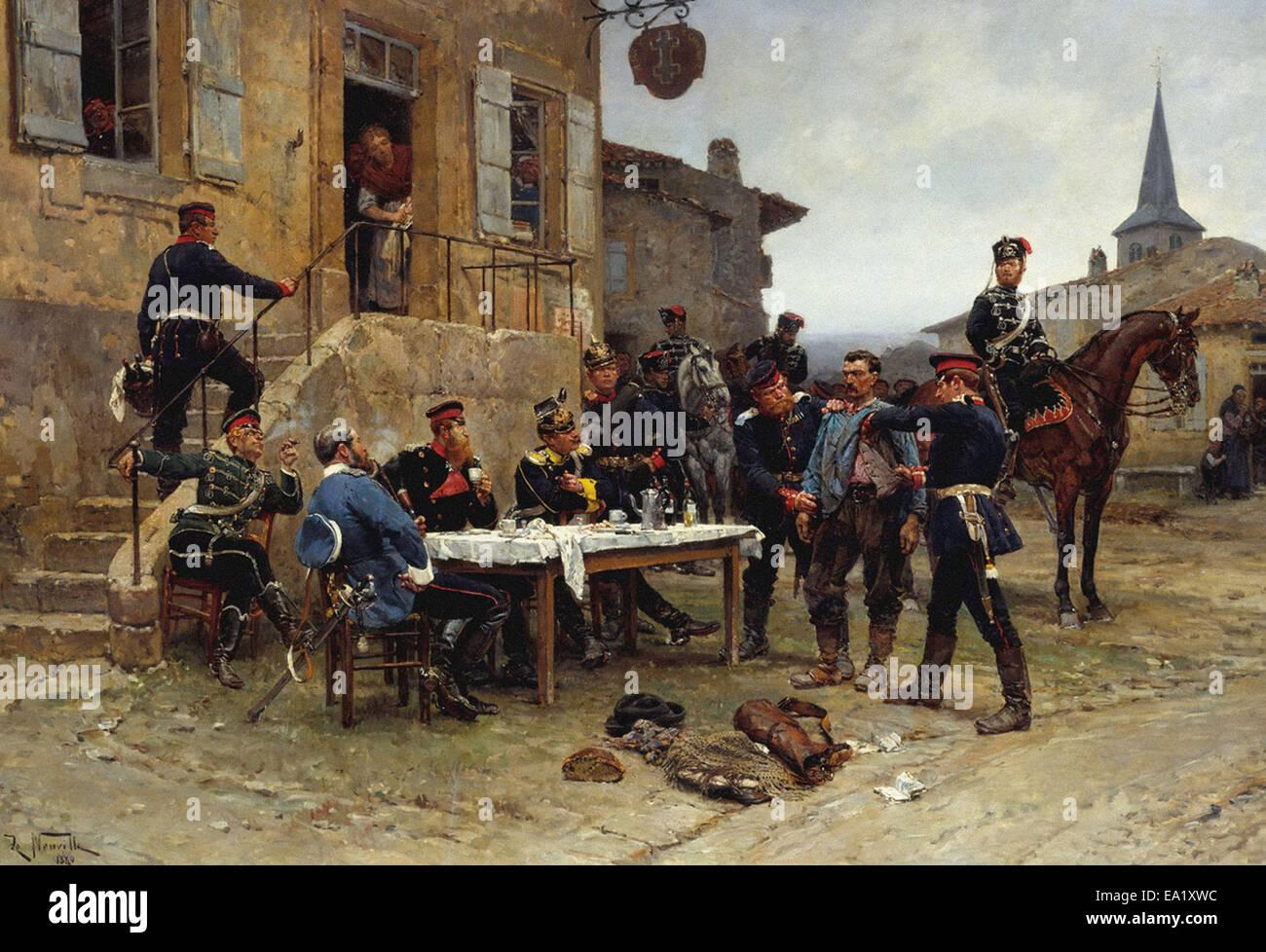 Alphonse-Marie-Adolphe de Neuville  The Spy Stock Photo
