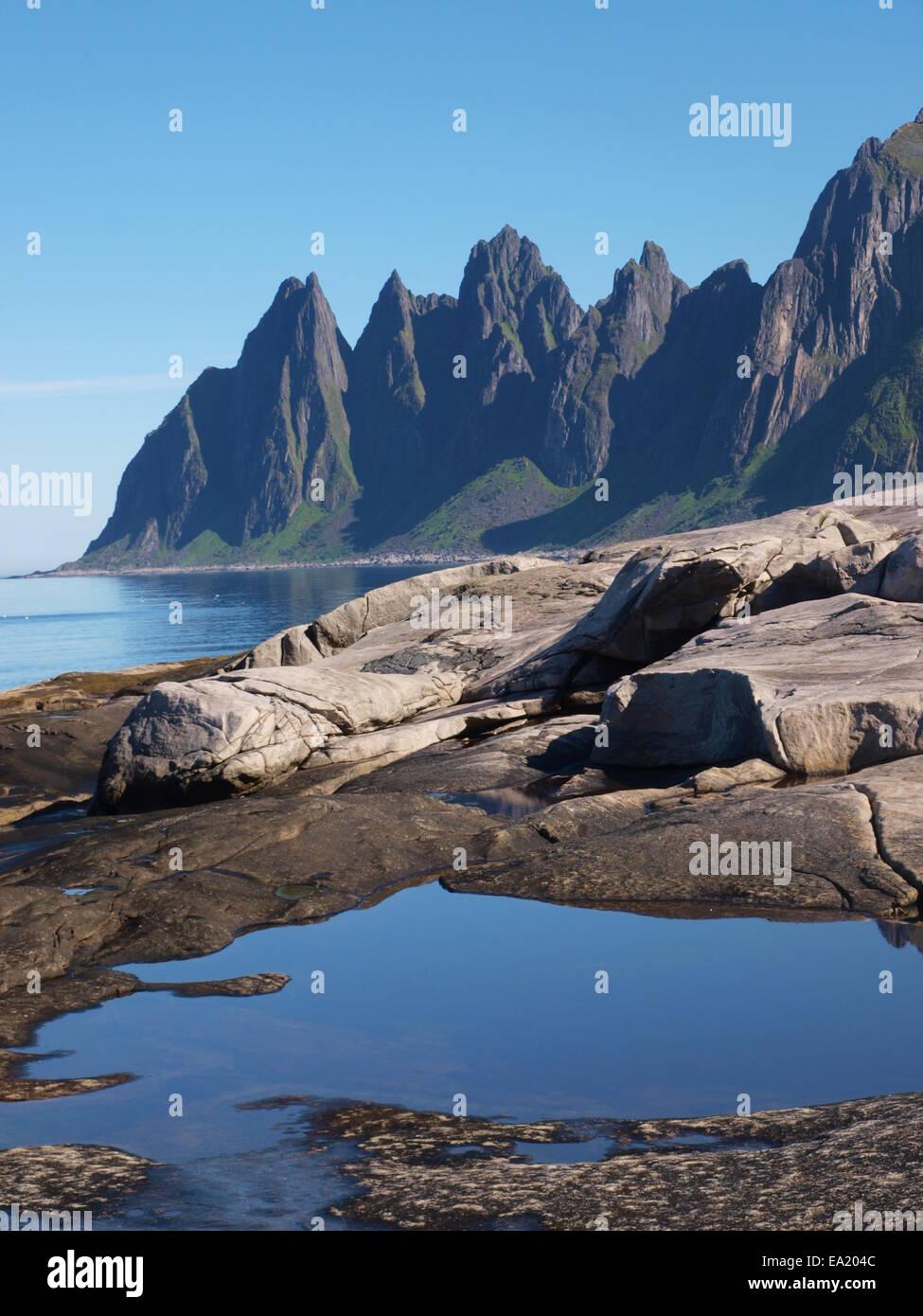 Erstfjord, Senja Island, Norway - Stock Image