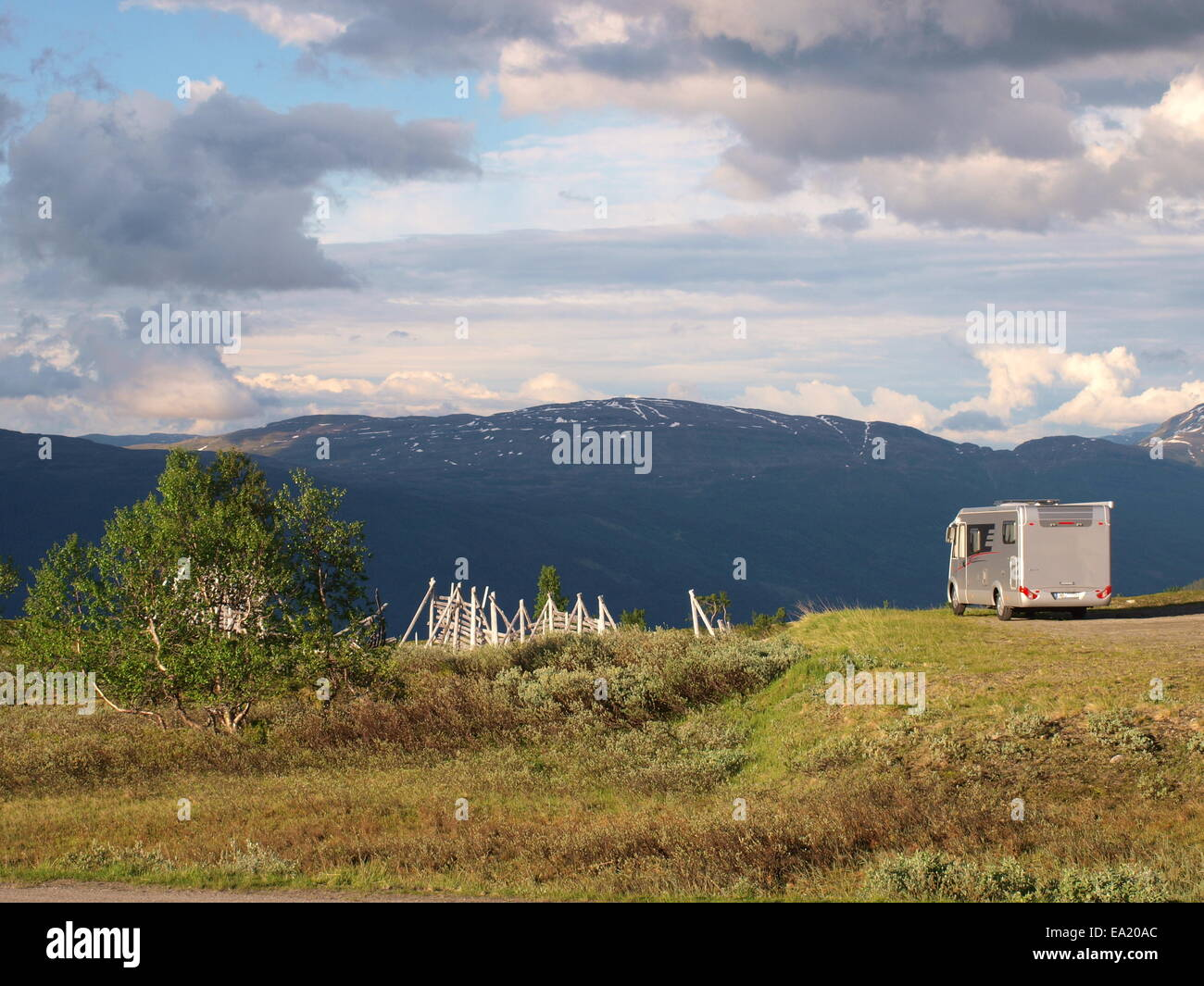 Mobile home at the Korgfjellet in Norway Stock Photo: 75032228 - Alamy