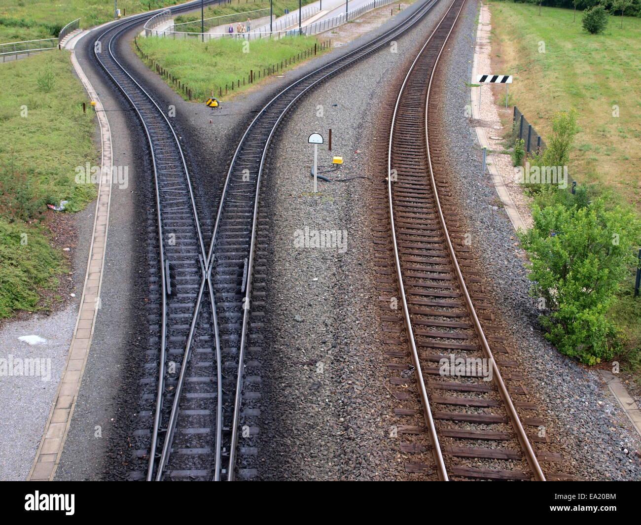 narrow gauge and standard gauge rails stock photo 75032264 alamy