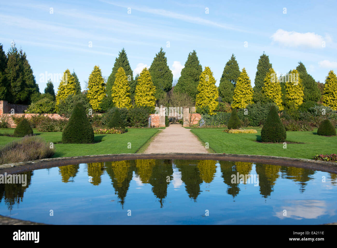 Autumn at Newstead Abbey in Nottinghamshire England UK - Stock Image
