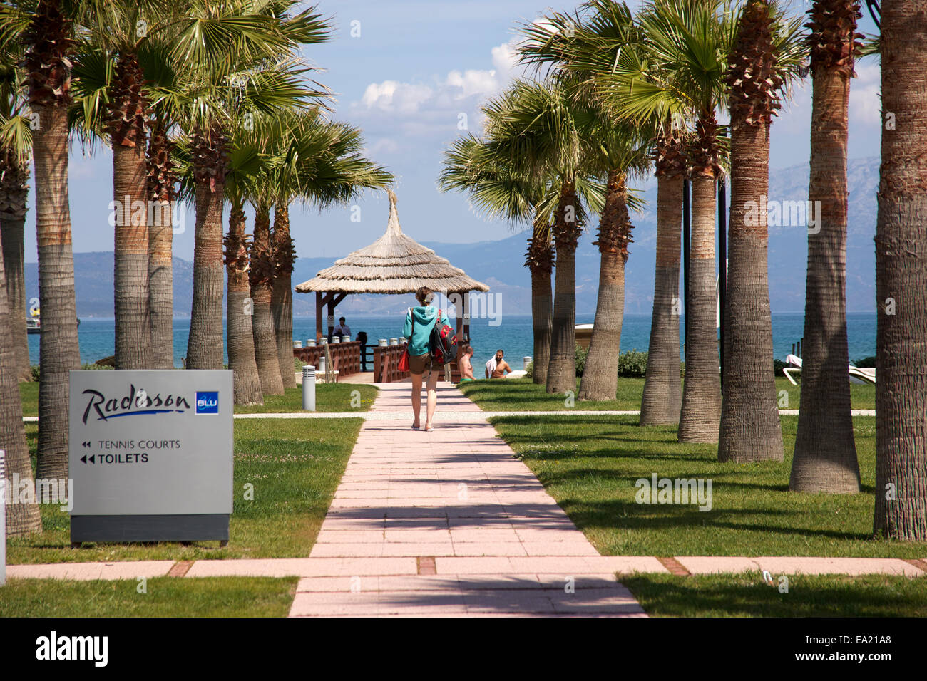 Radisson Blu hotel at Cesme, Izmir - Stock Image