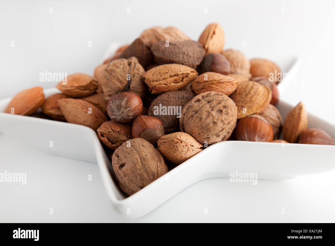 nuts in a bowl - Stock Image