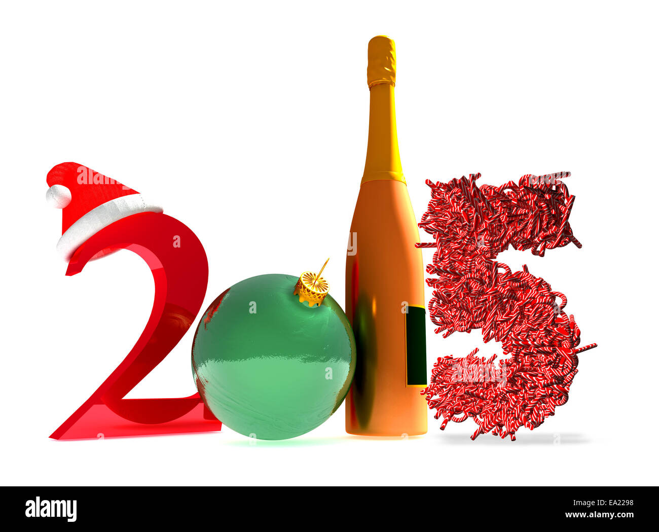 New Year 2015 Tree Poster Cut Out Stock Images Pictures Alamy