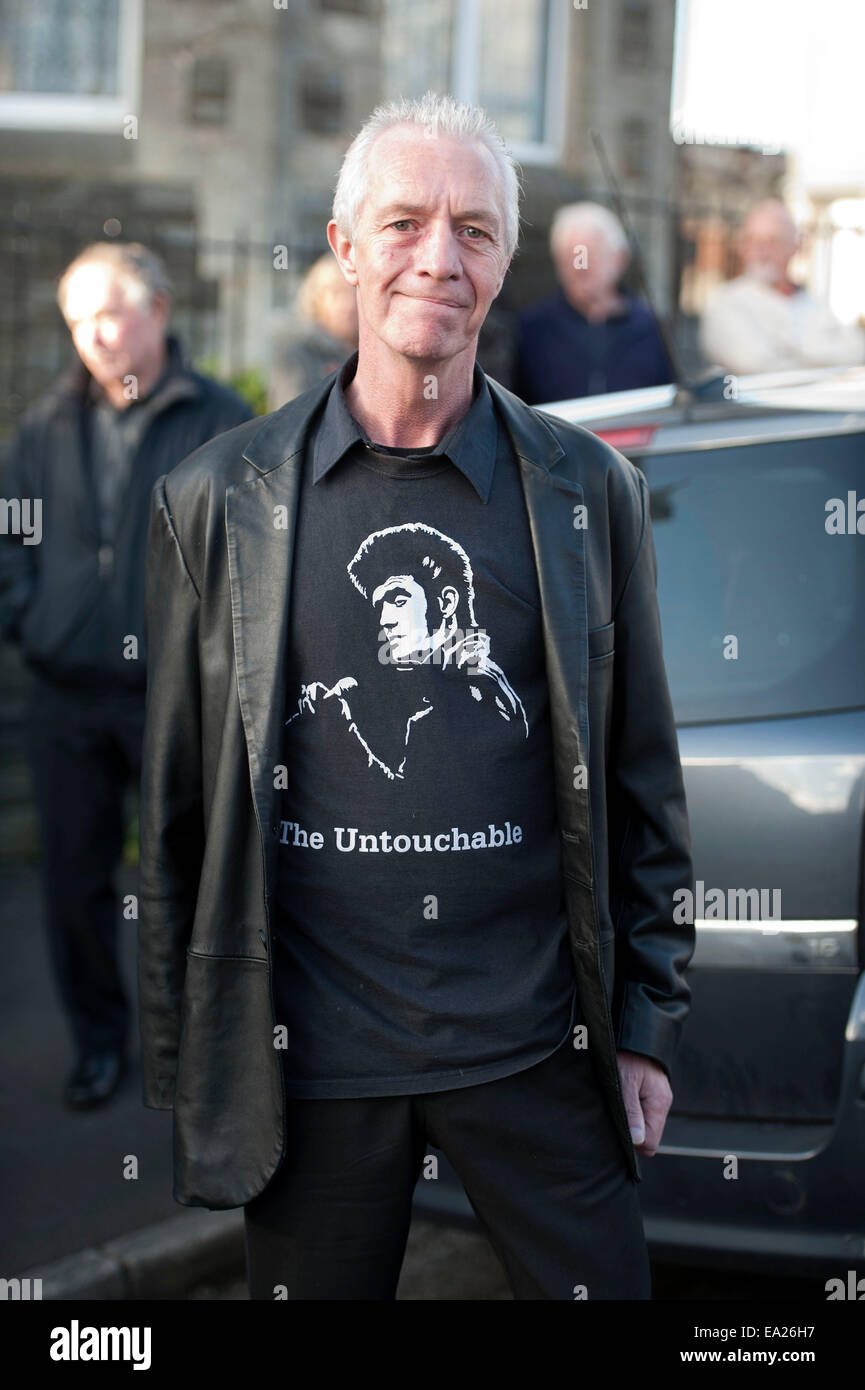 Swansea, Wales, UK. 05th Nov, 2014. Alvin Stardust funeral in the St Thomas district of Swansea this afternoon. - Stock Image
