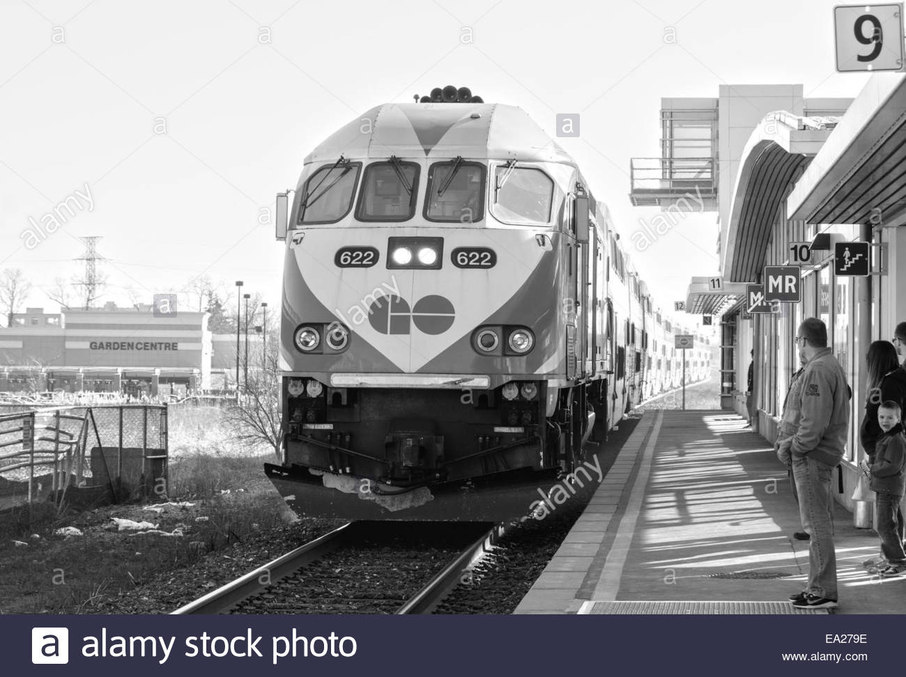 GO Transit is an inter-regional public transit system in Southern Ontario, Canada. It primarily serves the Greater - Stock Image