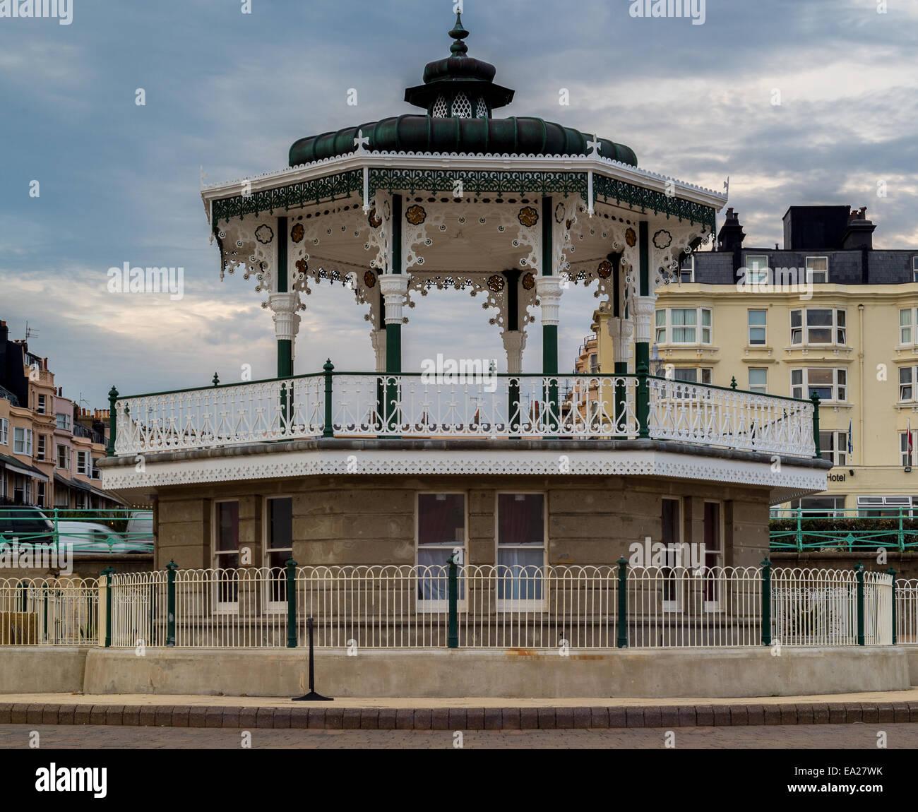 Brighton Bandstand around dusk - Stock Image