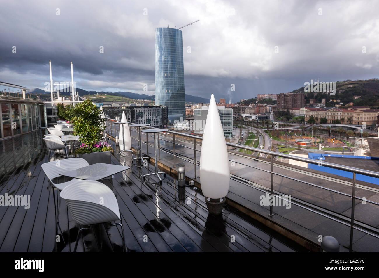 Iberdrola Tower From The Silken Gran Hotel Domine Terrace