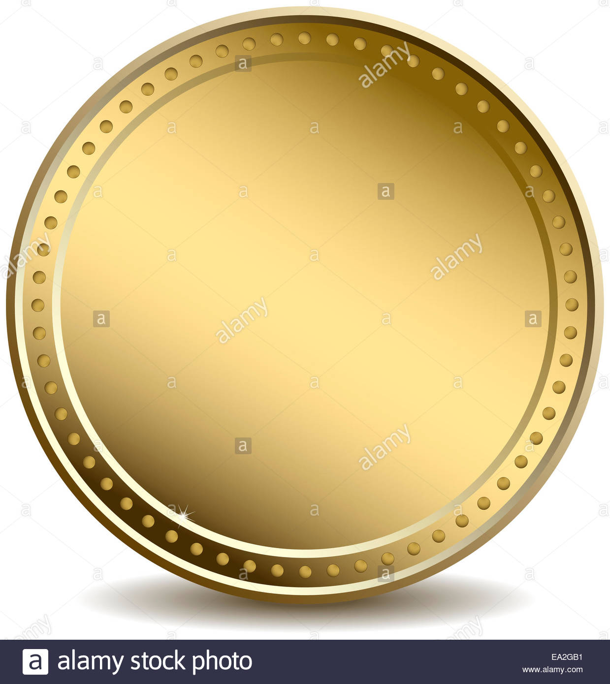 blank gold coin stock photo 75044789 alamy