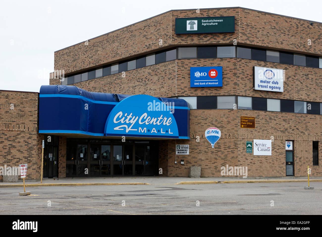 city centre mall weyburn Saskatchewan Canada - Stock Image