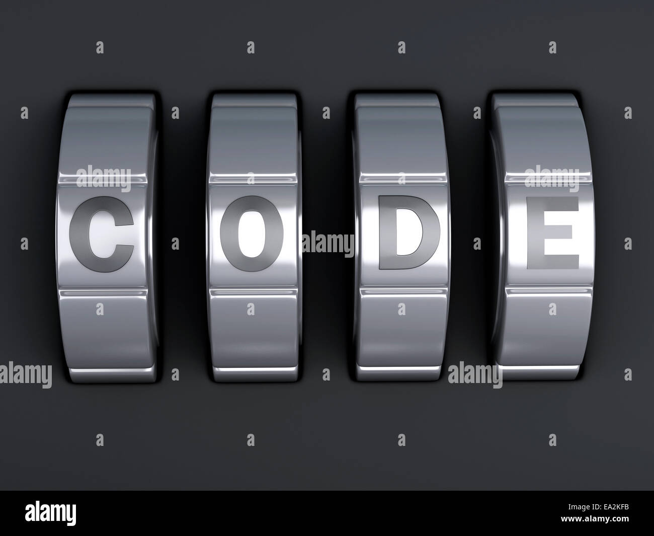 image of Security password. combination alphabet concept. 3d illustration - Stock Image