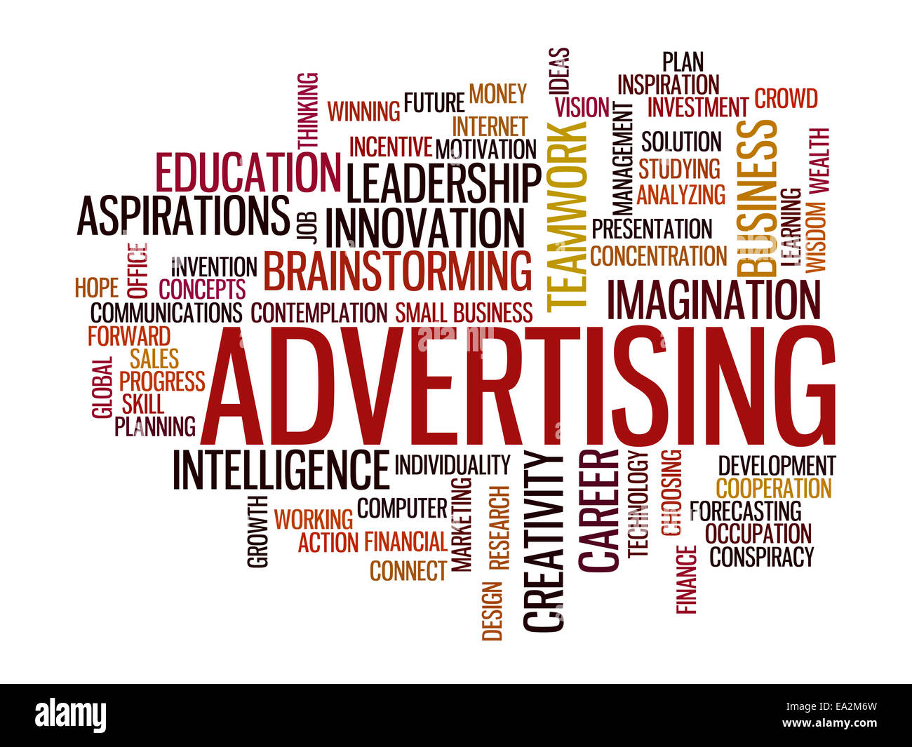 advertising vision concept word cloud - Stock Image