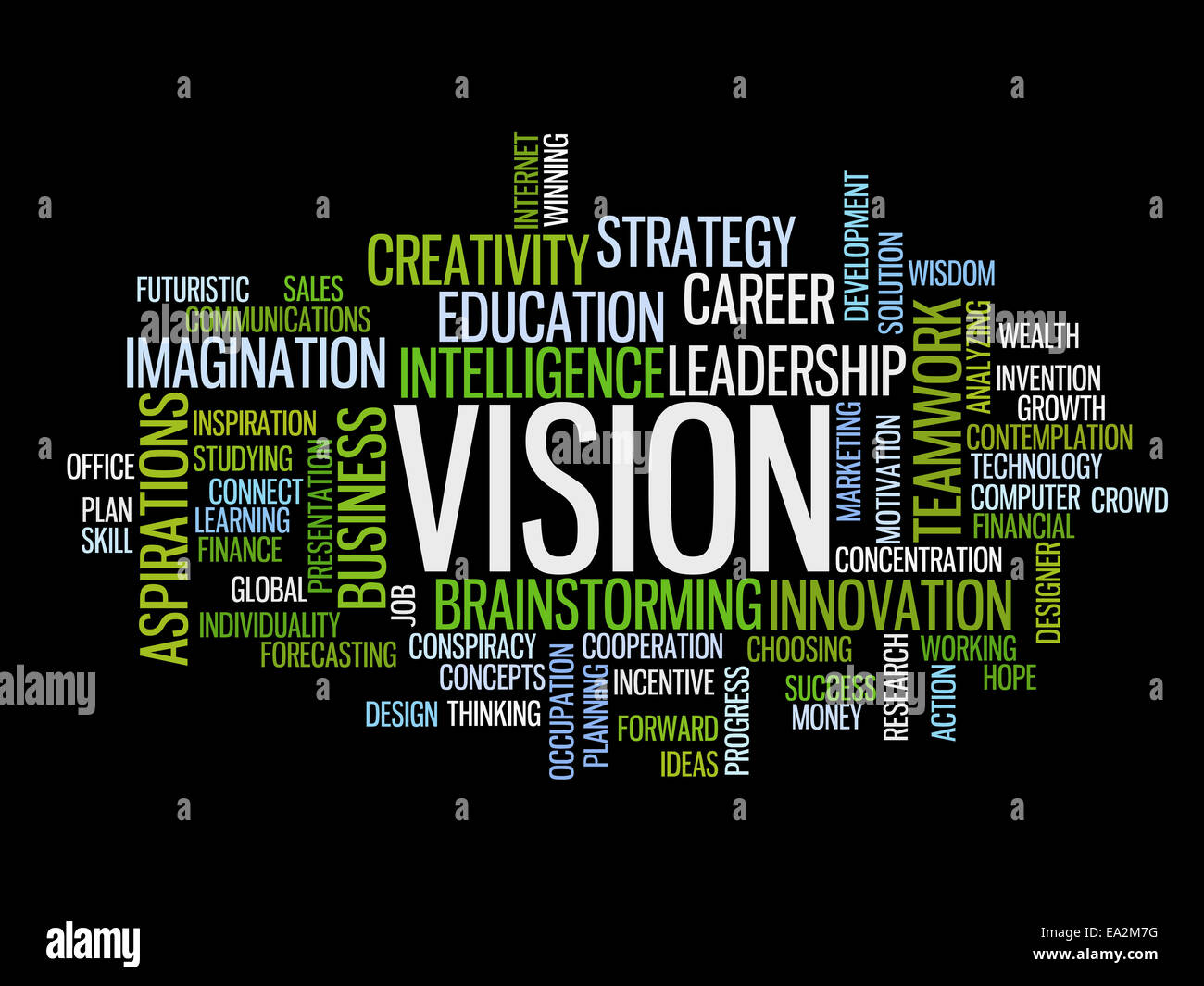 business vision concept word cloud - Stock Image