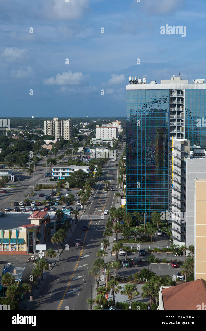 Aerial View Downtown Myrtle Beach, South Carolina Stock