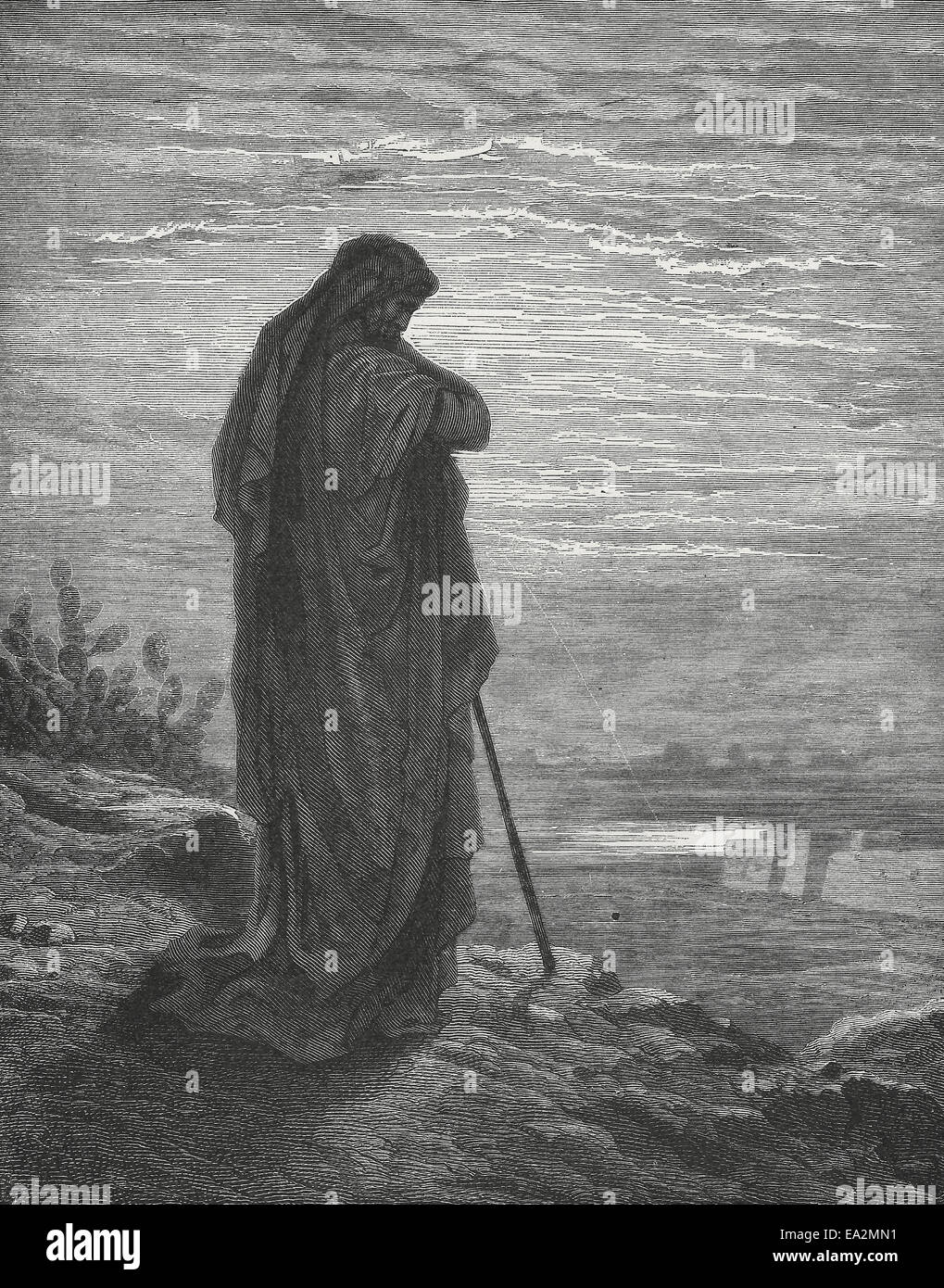 The Prophet Amos, Old Testament Bible - Stock Image