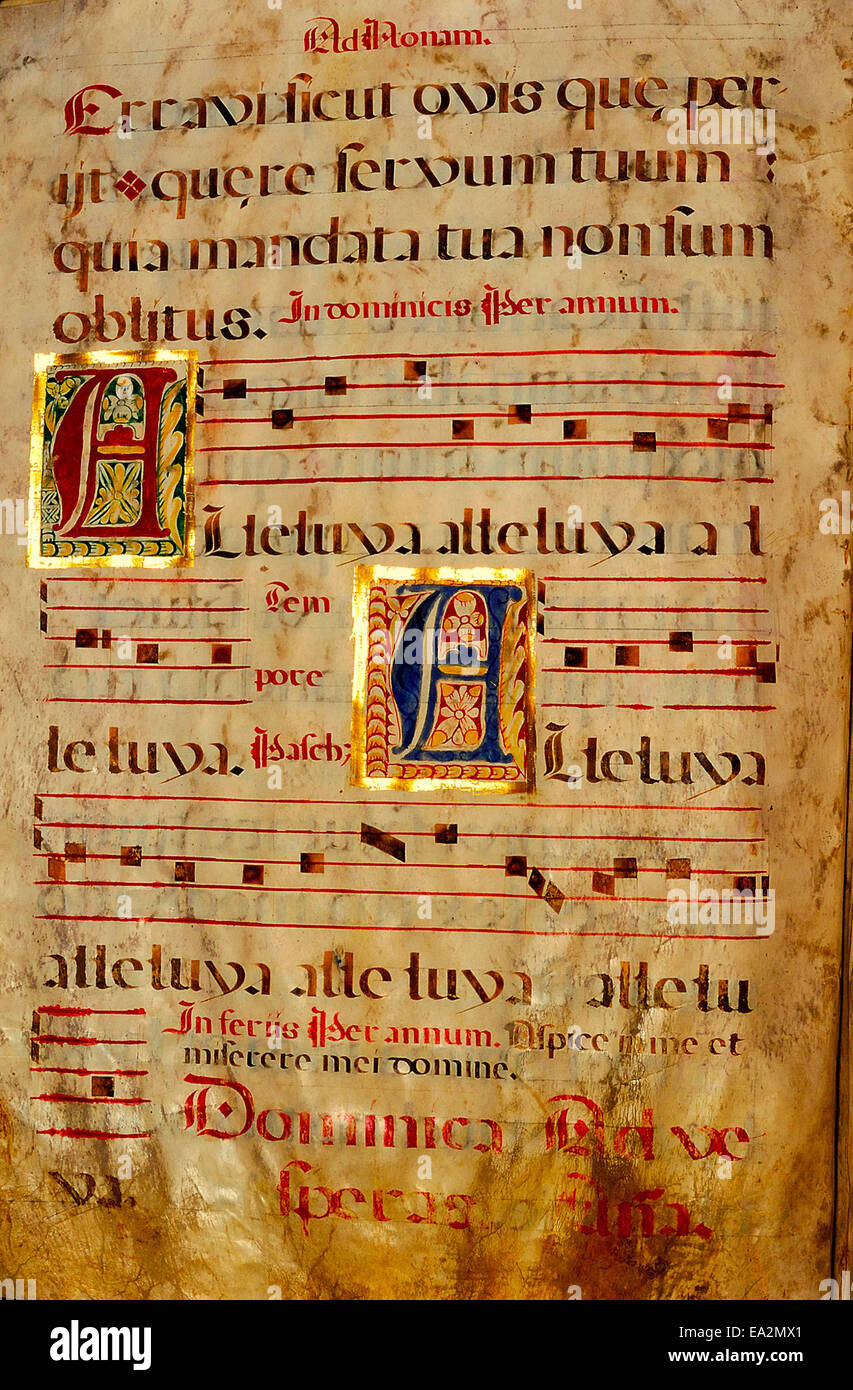 Spanish Chant Manuscript page 065 Stock Photo: 75048345 - Alamy