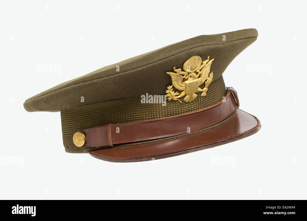 15fd1ec6fd0 An olive drab officer s hat worn by an American officer of the 9th United  States Army