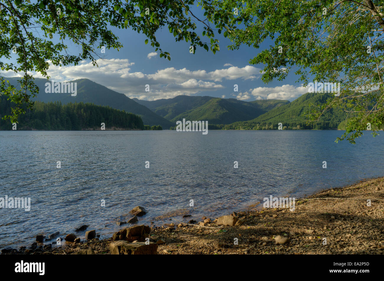 Oregon's Detroit Lake as seen from the Cove Creek campground - Stock Image