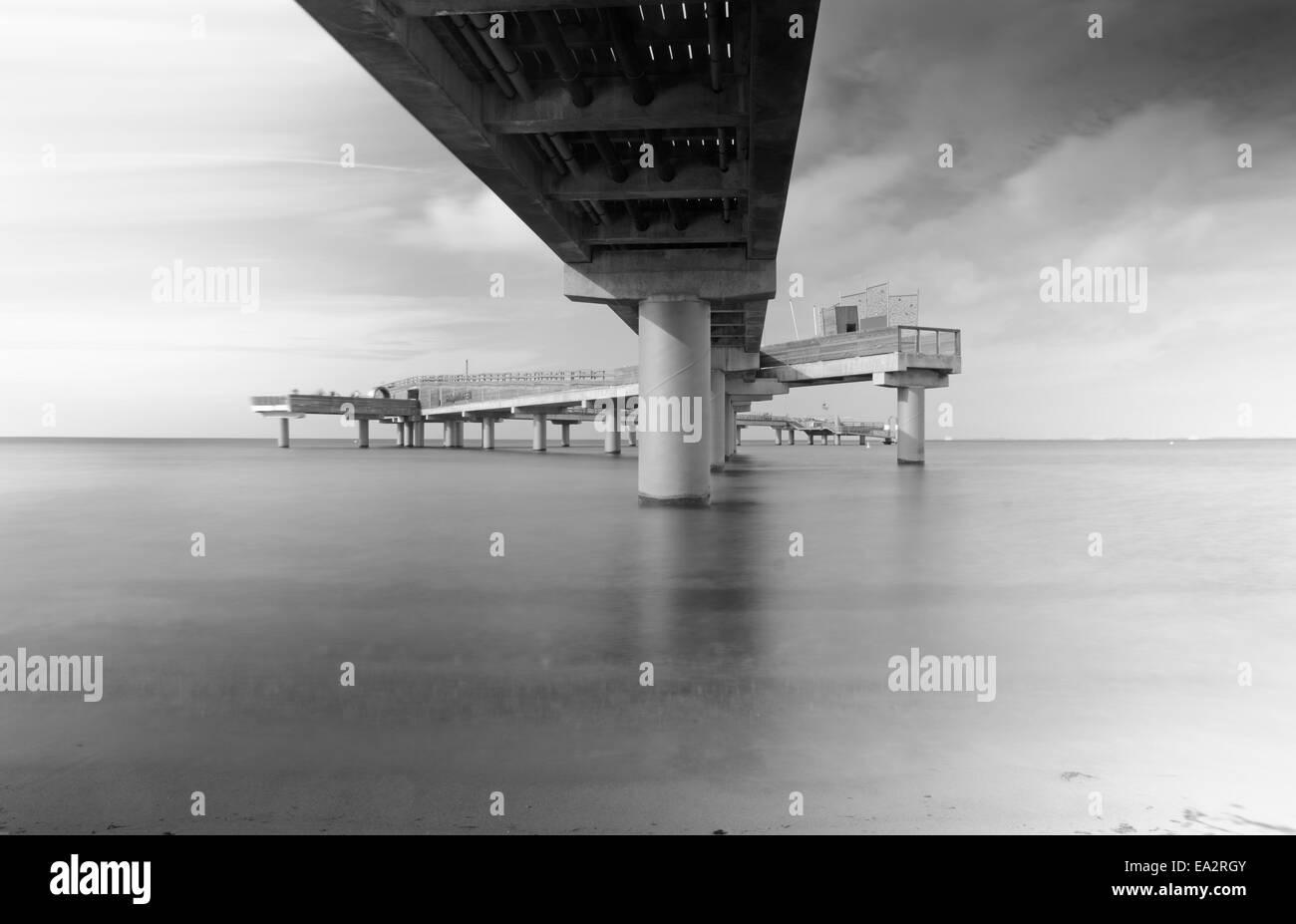 Sea bridge in Germany - Stock Image