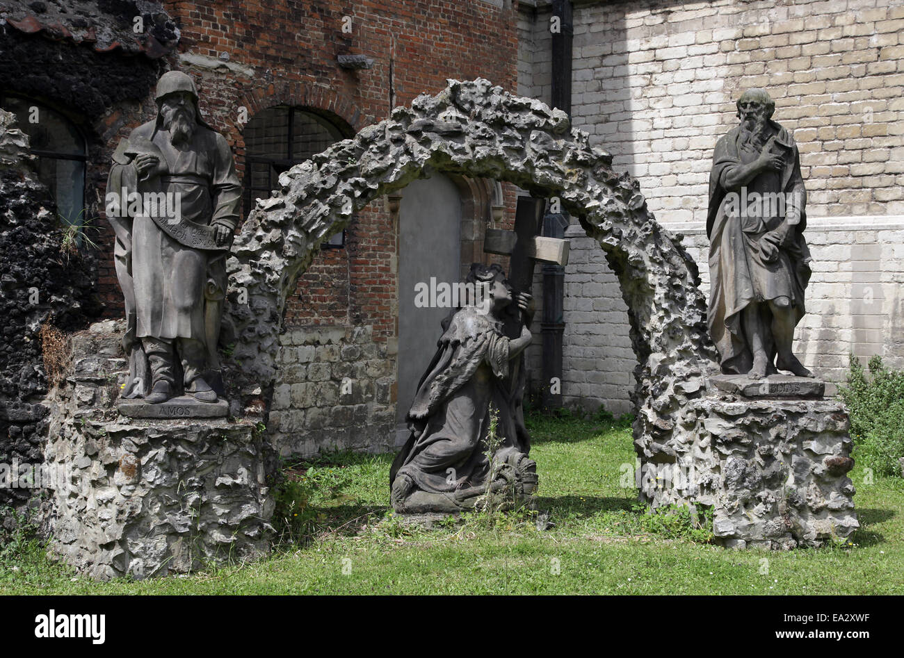 St.Paul's Church.Antwerp.Belgium.Intellectual centre of the Dominican order. - Stock Image