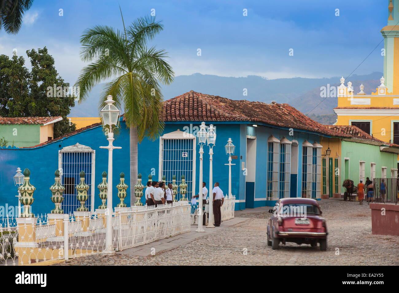 Plaza Mayor, Trinidad, UNESCO World Heritage Site, Sancti Spiritus Province, Cuba, West Indies, Caribbean, Central Stock Photo
