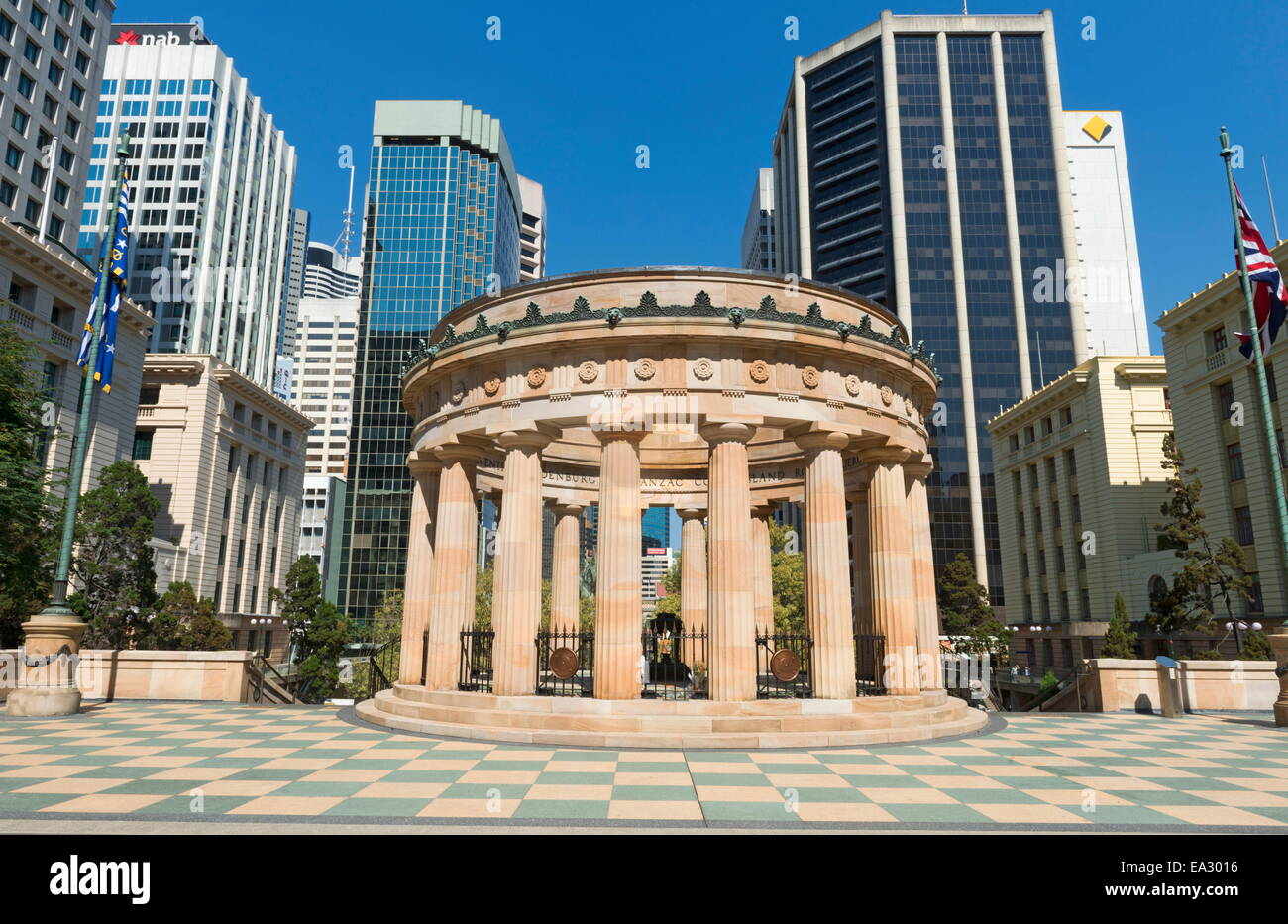 Anzac Square, Brisbane, Queensland, Australia, Pacific - Stock Image