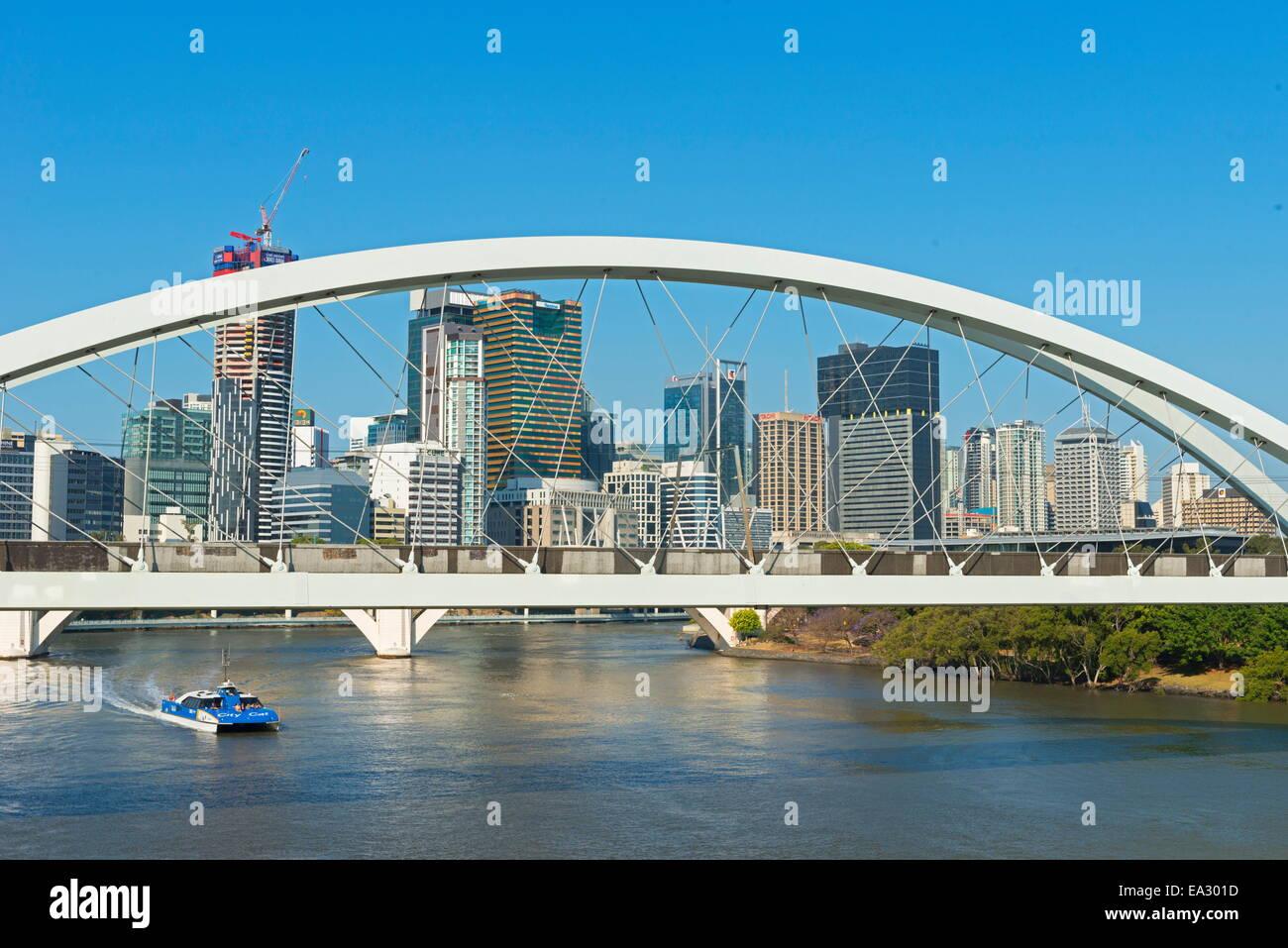 Kurilpa Bridge in Brisbane, Queensland, Australia, Pacific - Stock Image