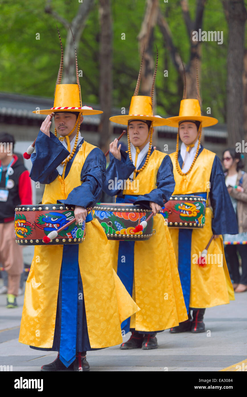Changing of the Guards ceremony, Deoksugung Palace, Seoul, South Korea, Asia Stock Photo