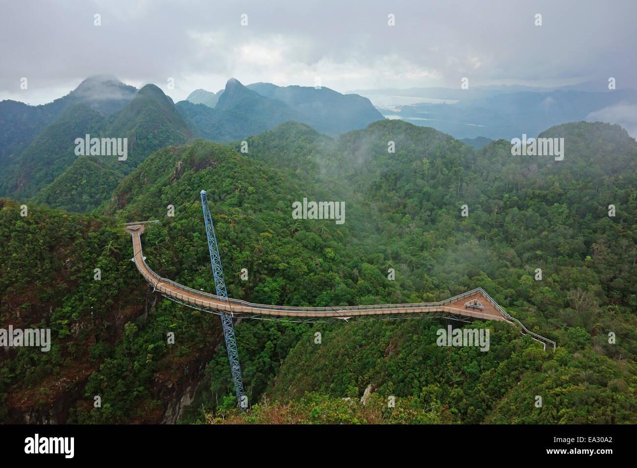 Skywalk, Gunung Machincang, Pulau Langkawi (Langkawi Island), Malaysia, Southeast Asia, Asia - Stock Image