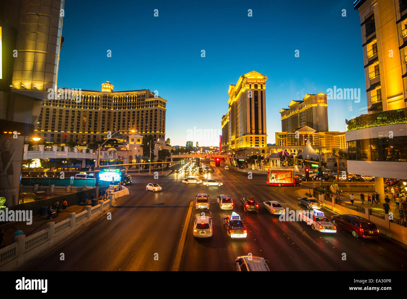 View over The Strip, Las Vegas, Nevada, United States of America, North America - Stock Image