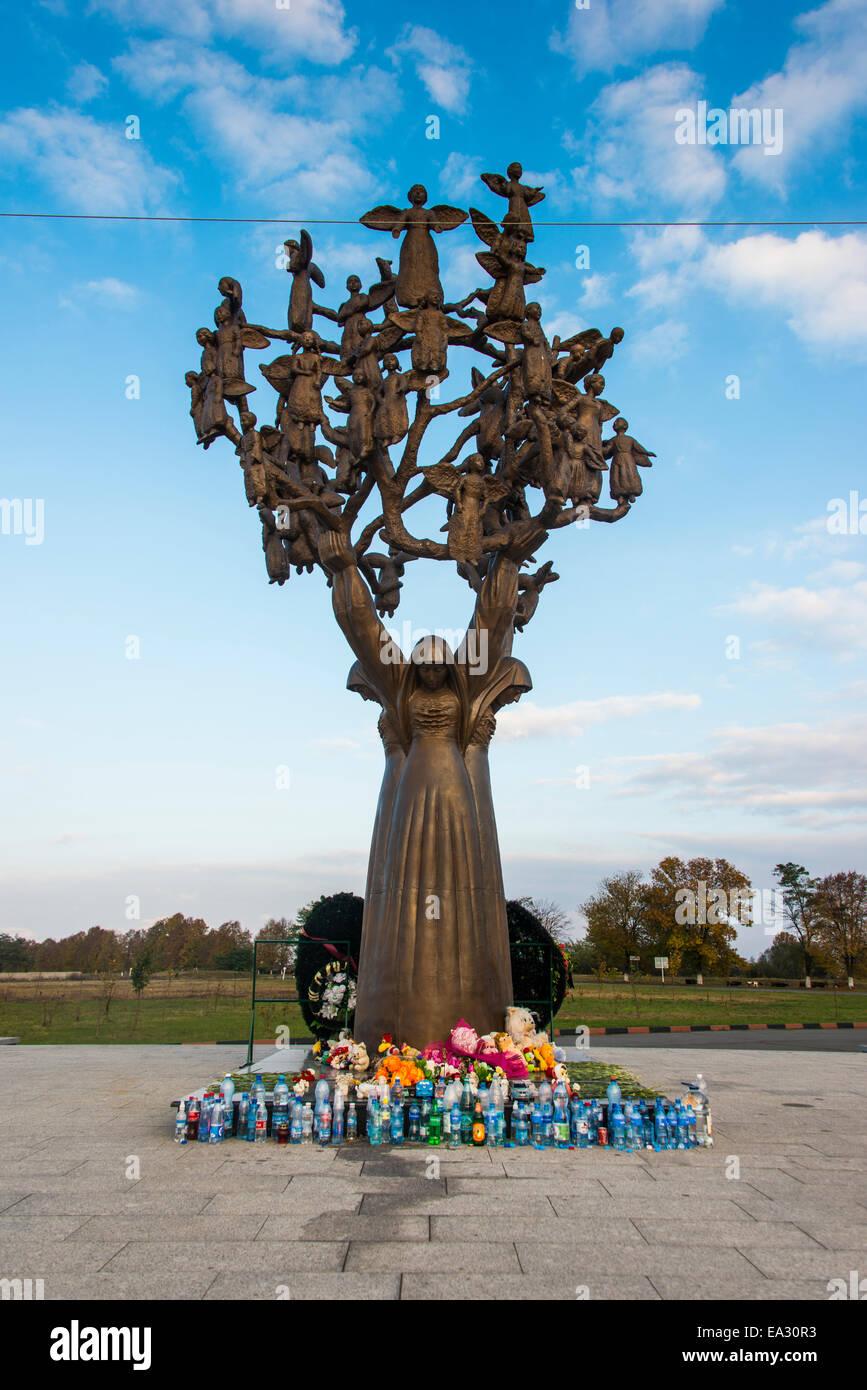 Memorial of the massacre of Beslan, Republic of North Ossetia-Alania, Caucasus, Russia, Eurasia - Stock Image