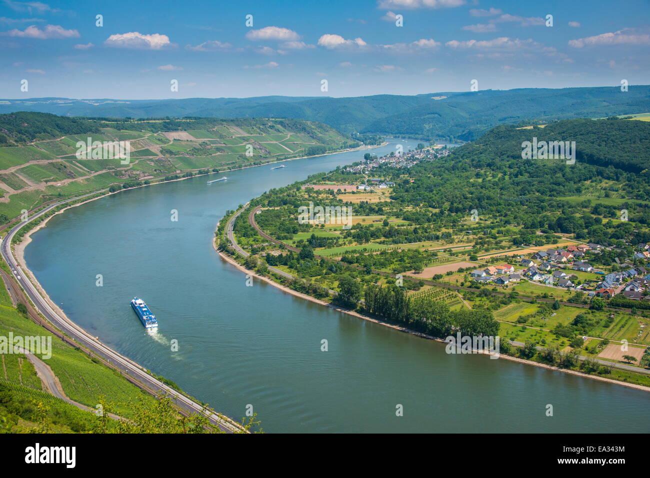 Boppard, Rhine Valley, UNESCO World Heritage Site, Rhineland-Palatinate, Germany, Europe - Stock Image
