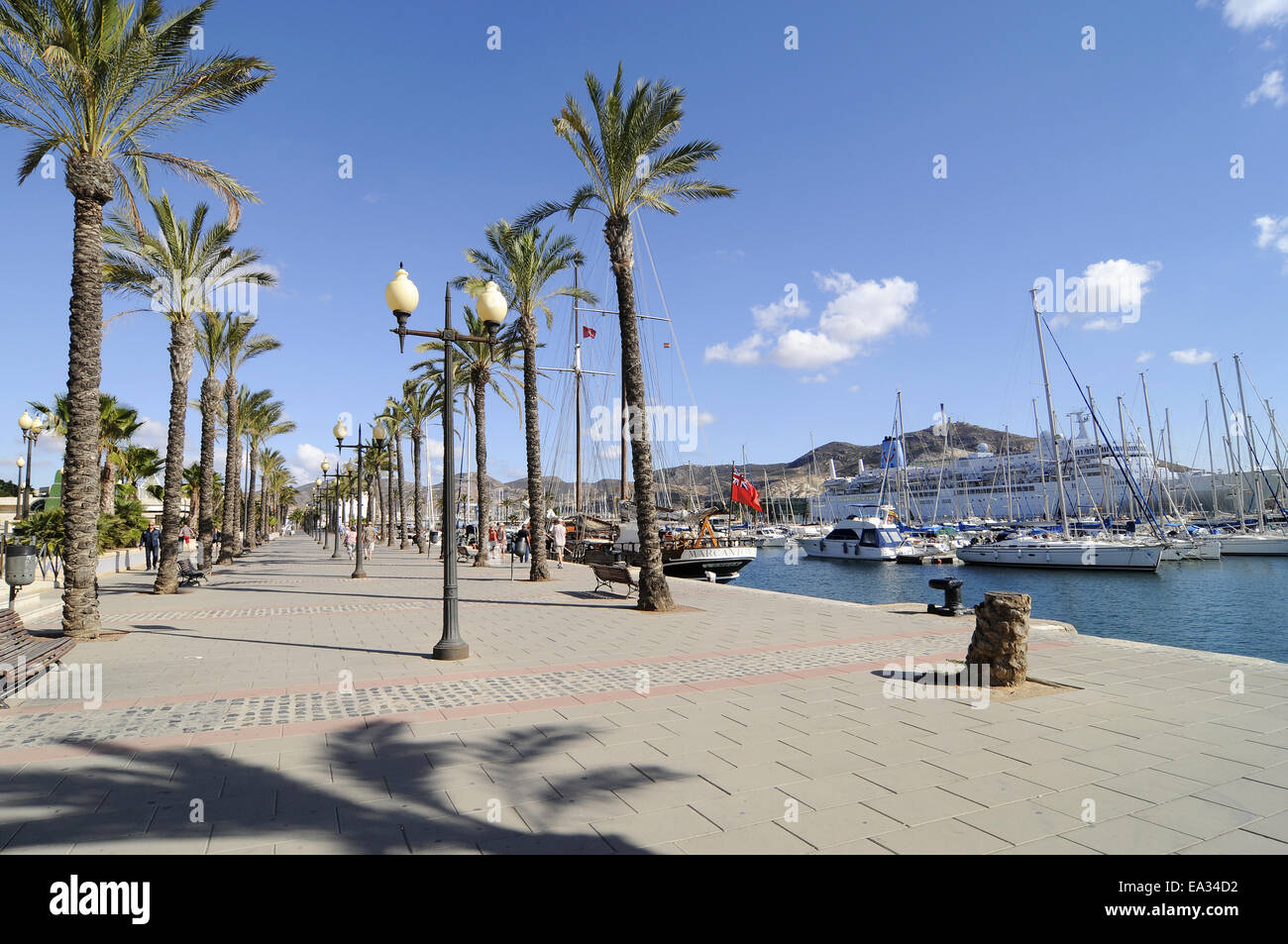 harbour, Cartagena, Spain Stock Photo