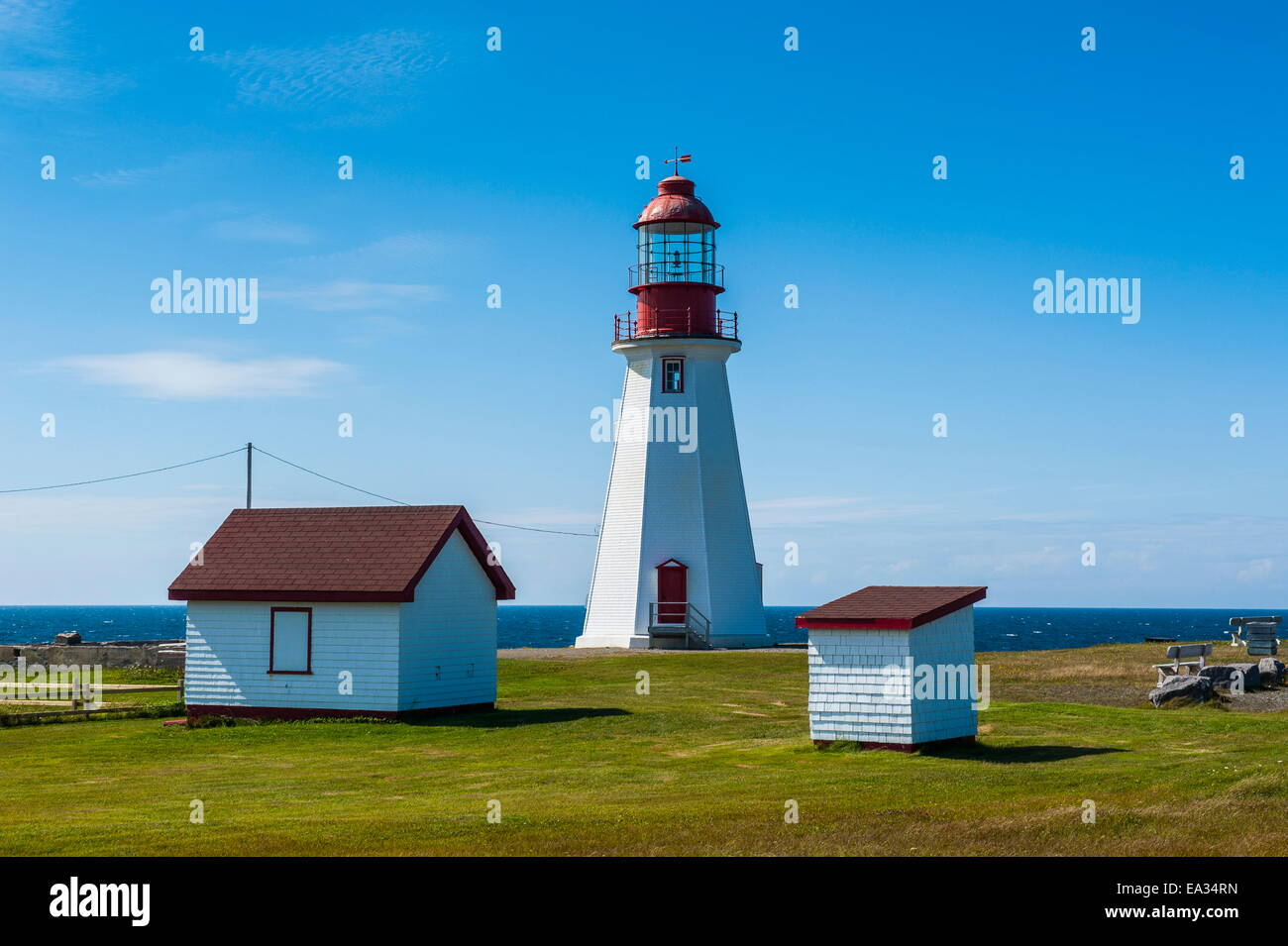 Pointe Riche lighthouse, Port au Choix, Newfoundland, Canada, North America - Stock Image