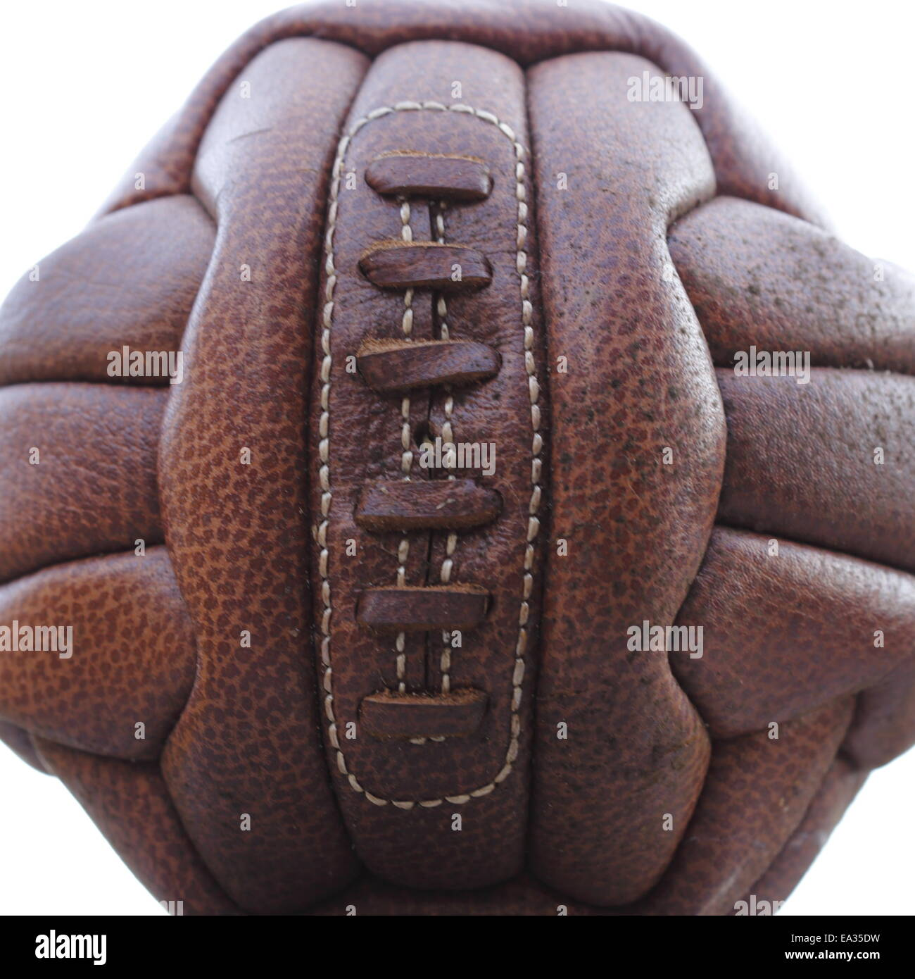 Old Rugby Ball Isolated Stock Photos & Old Rugby Ball