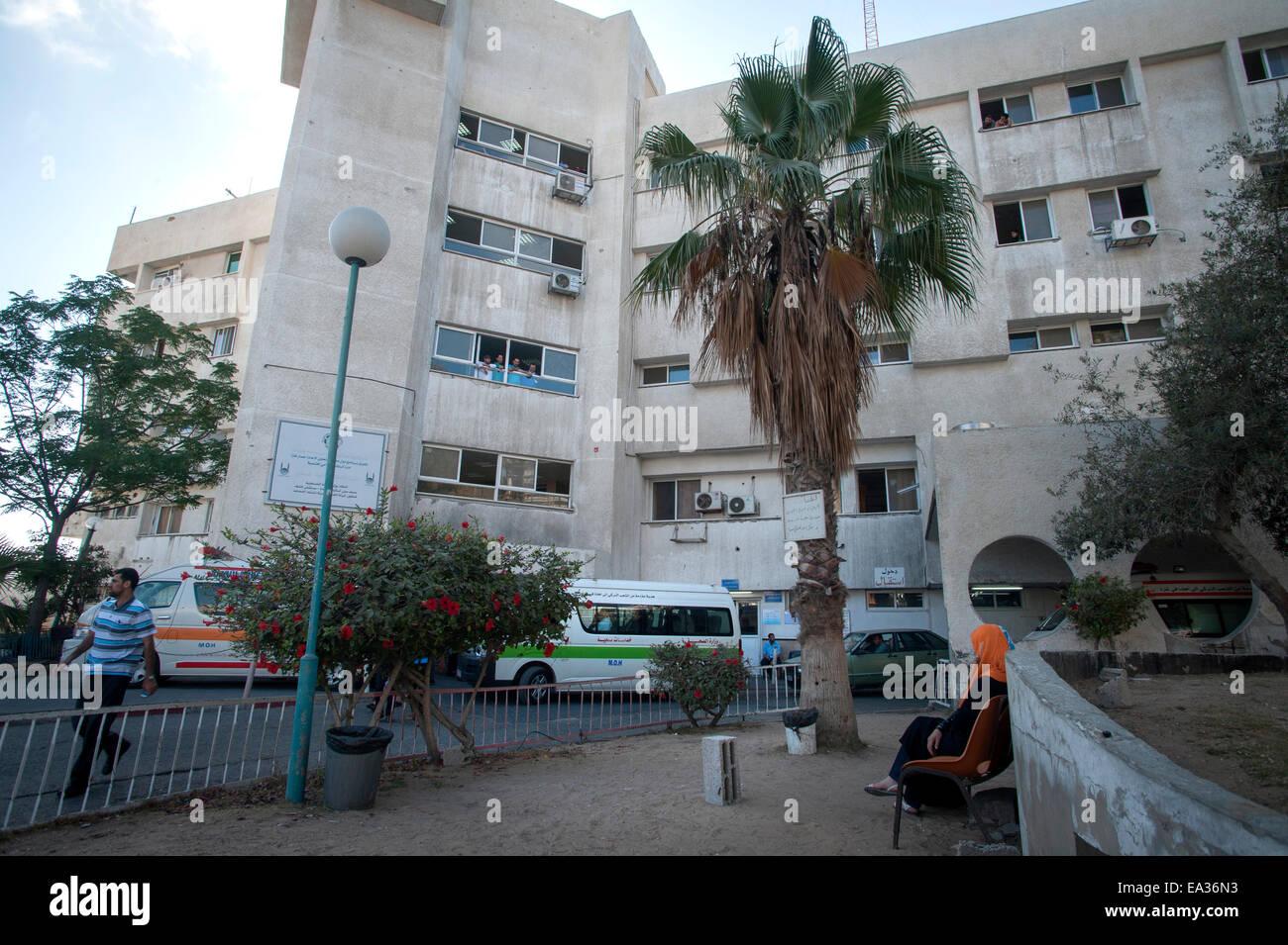 Al Shifa Hospital, Gaza City, Gaza Strip, Palestine. - Stock Image
