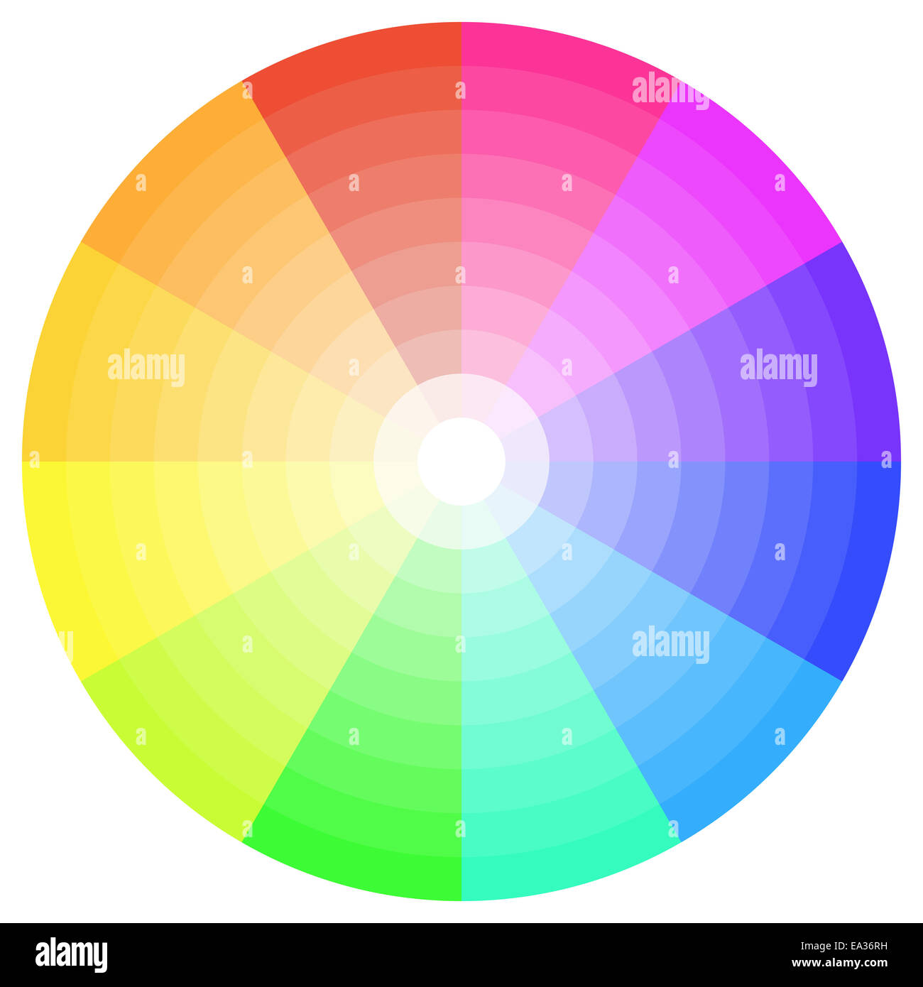 Color Wheel Chart Stock Photos Color Wheel Chart Stock Images Alamy