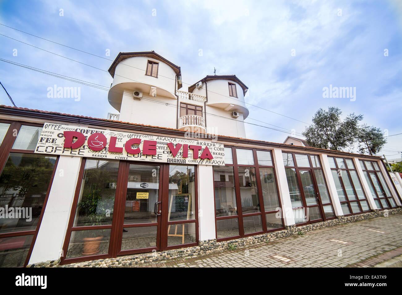 Restaurant, Gagra, Abkhazia - Stock Image
