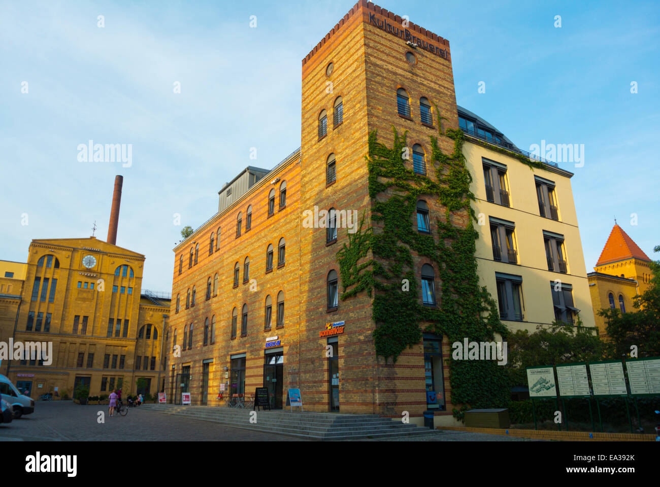 Kulturbrauerei, 18th c brewery converted into a cultural complex, Prenzlauer Berg district, Berlin, Germany - Stock Image