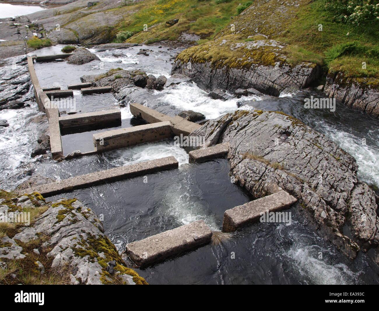 Fish stair, Lofoten, Norway - Stock Image