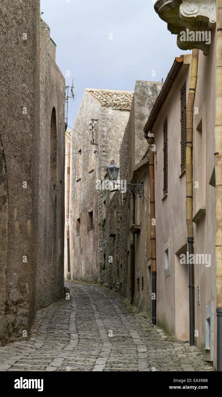 Street in Erice - Stock Image